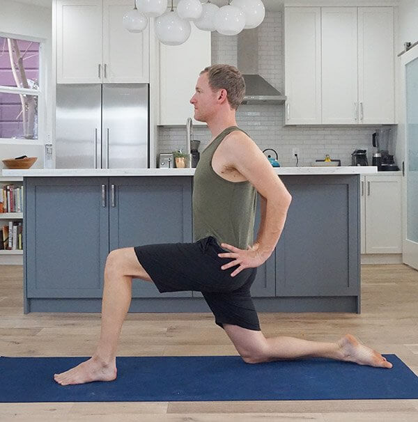 Anjaneyasana Low Lunge - Padmasana Yoga Pose Sequence