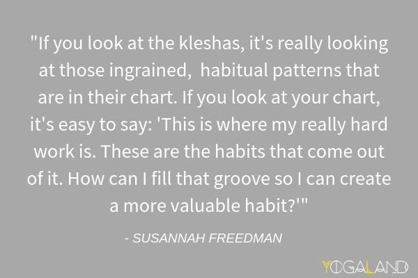 Susannah Freedman quote | Astrology + Yoga | Yoga Podcast | Yogaland Podcast