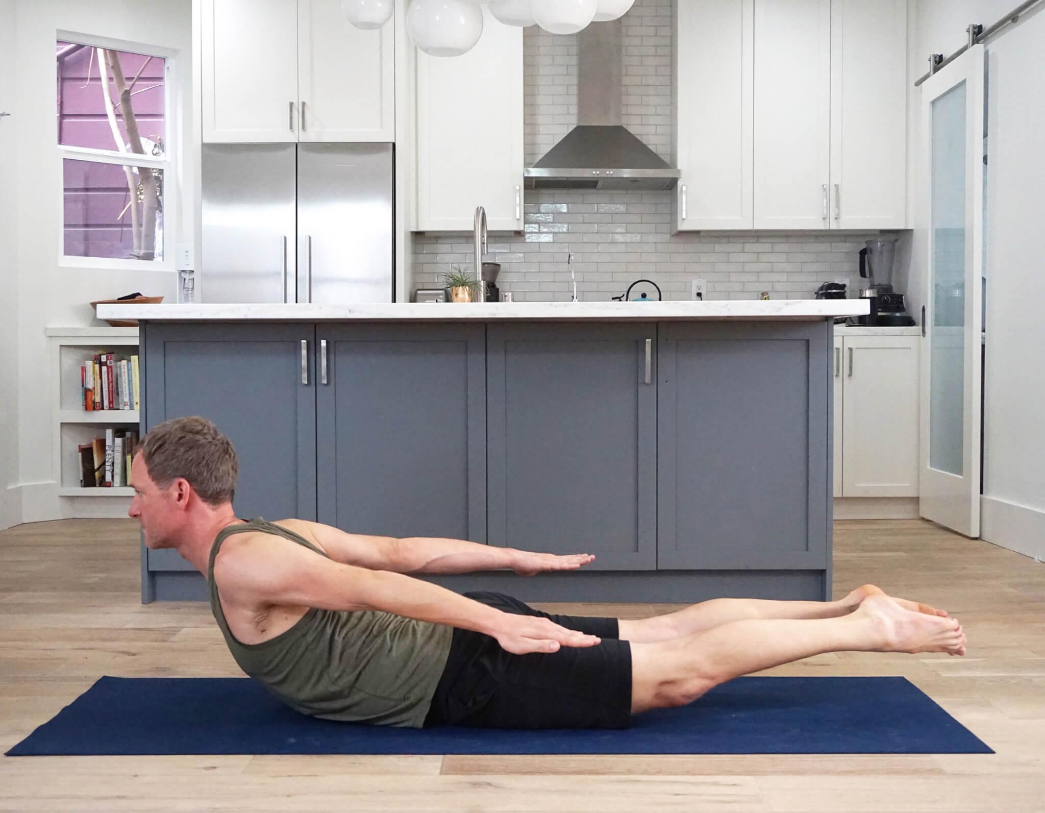 Locust Pose Salamabhasan - Yoga to Strengthen Hamstrings